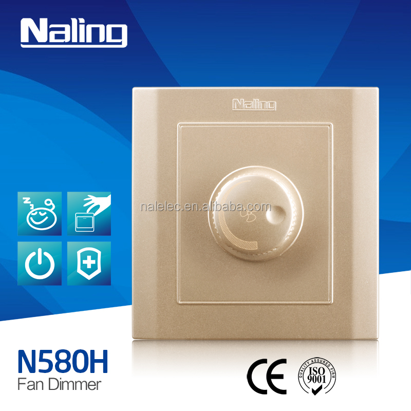 modern light switch waterproof speed fan switch1 gang dimmer switch