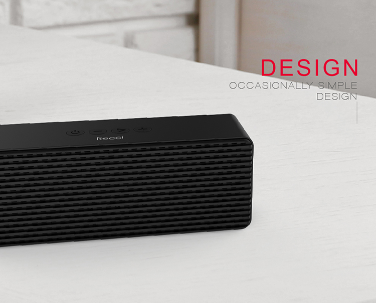 Recci Top selling good sound 6W wireless speaker for stock