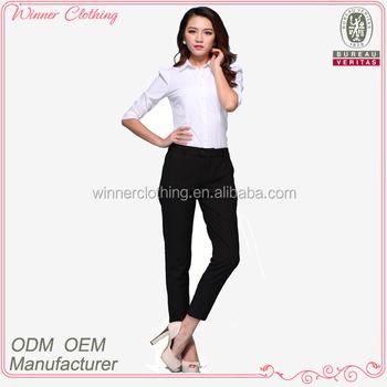Lady Fashion Blouse/office Uniform Designs For Women Pants ...