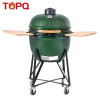 Topq Outdoor Cooking Used Multi Duty Green Pizza Oven Ceramic Kamado Bbq Grill