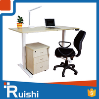 Acrylic adjustable height electric standing desk frame popular in India and so on