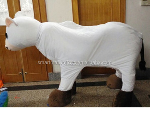 Adult cow mascot costume full white 2 person cow costume