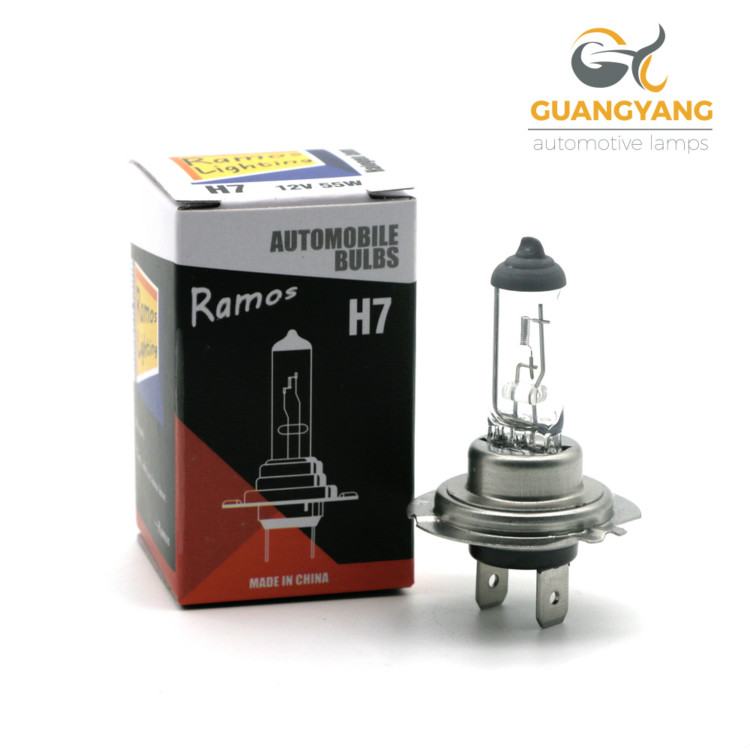 Ramos lighting 12v 55w car lamp headlight xenon halogen bulb factory h7 bulb