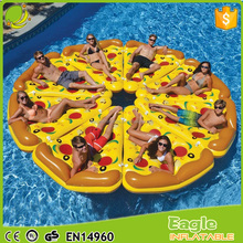 Factory direct sales custom inflatable pizza float plastic pizza slice pool float mattress water air bed For Beach