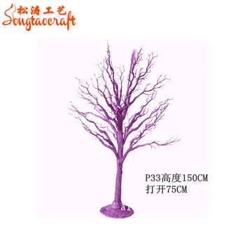 Chine Usine Gros Artificielle Faux Arbre Sec Blanc Decoratif