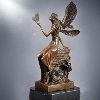 Table Decoration Jungle Elves Statues Western Bronze Figure Sculptures For  Sale