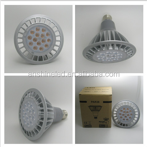 LED PAR38 High Power Spotlight Fixtures 16w 20w 26w led bulb e27