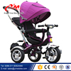 Factory supply Children Tricycle Push Riding Car / Three wheel Kid Tricycle Air wheels Cheap/Good sale Baby Tricycle with Canopy