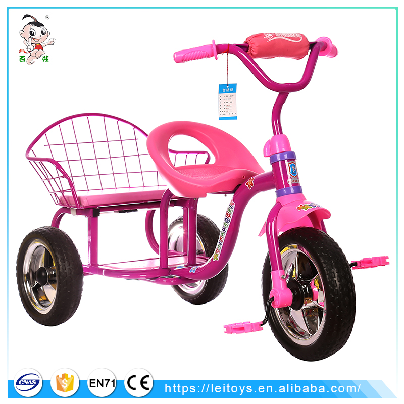 Wholesale cheap children tricycle two seat double seat children tricycle for kids
