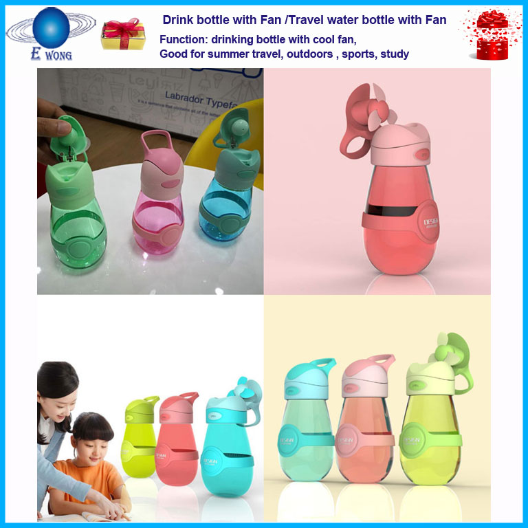 Novelty Fan cup Drink bottle fan gifts innovative new return gifts for kids birthday party