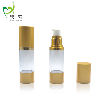50ml custom cosmetic plastic airless perfume spray bottle with silver golden pump sprayer