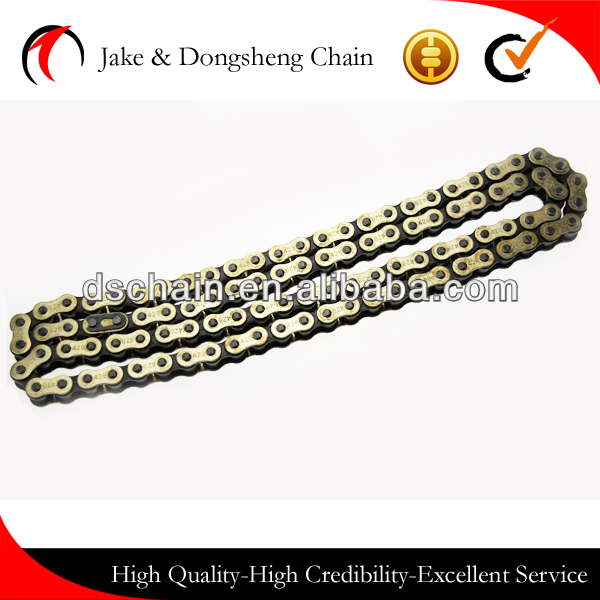 China price Golden chain for motorcycle parts and accessories