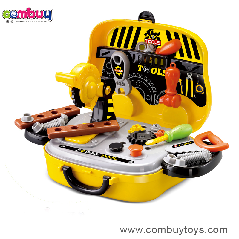 2017 new product plastic bricolage toy mechanic tool box set