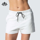 Wholesale Fashion Custom Sweat Shorts In White Supremely Soft Fabric Ladies Running Shorts