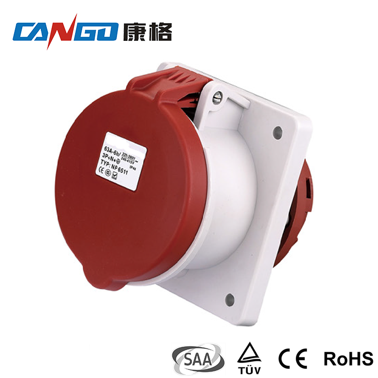 Hot Sale Factory Direct Price Ac 4 Pin 5 Pin Wall Industrial Socket