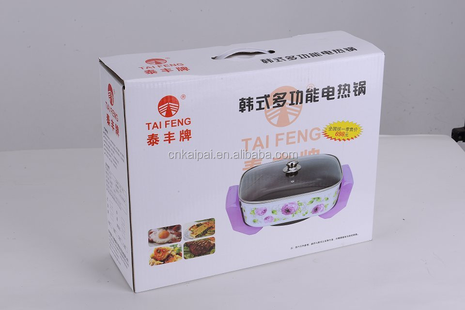 Multi-function Korean Electric Grill Pan ! multi-function square electric pizza pan !