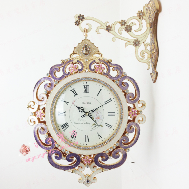 get quotations kairos european highgrade metal wrought iron doublesided wall clock creative minimalist living