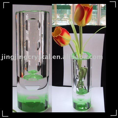 new fashion crystal flower vase craft for home decoration wedding gift