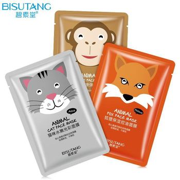 Animal cat brightening face mask in high quality