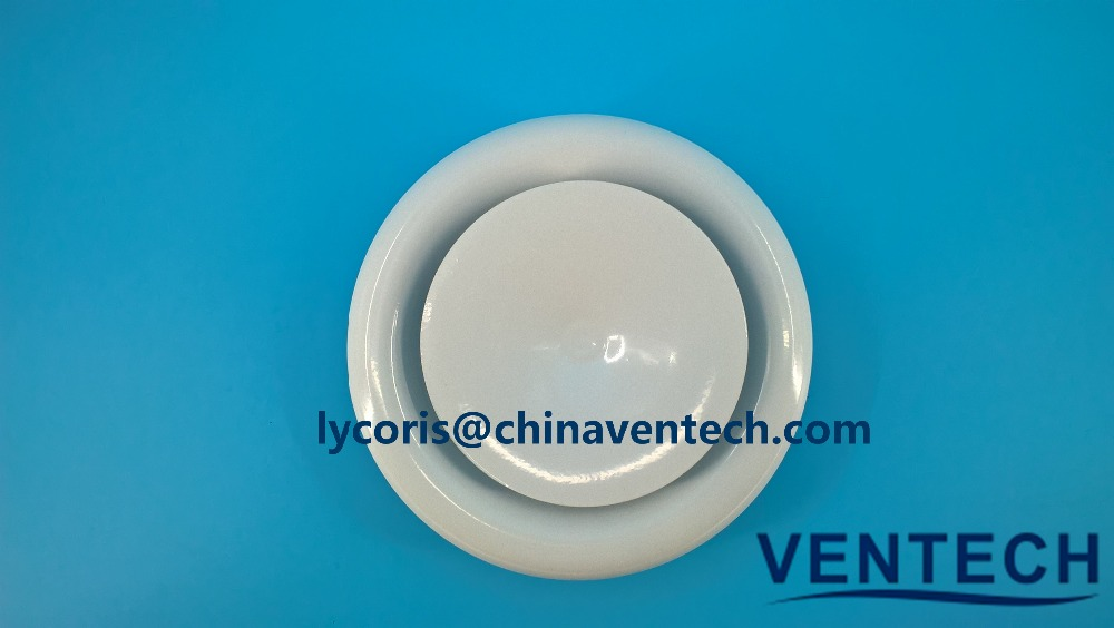 washing room used metal disc valve ceiling type exhaust fresh air valve metal round diffuser