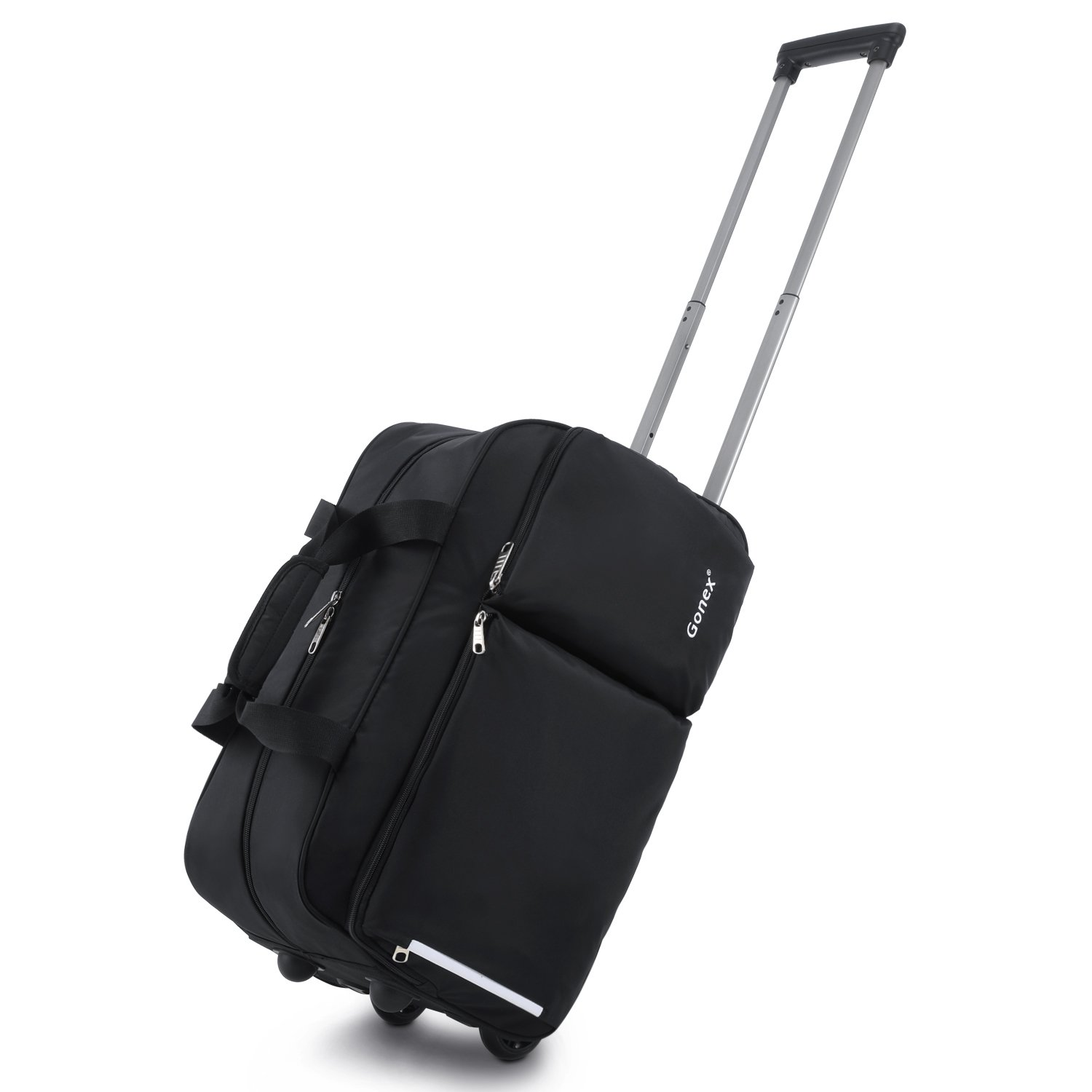 Rolling Duffel Bag, Water Repellent Wheeled Duffel Carry On Luggage 20inch  Black 3f6161ef23