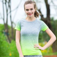 Custom Women Seamless Nylon Yoga T shirt
