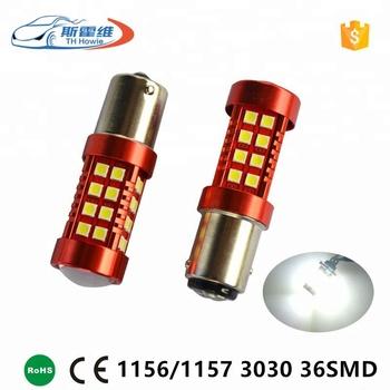 Car Flashing Led Brake Light 1156 Ba15s P21w 1157 Bay15d P21 5w Socket Bulb 36