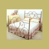 Top-selling noble wrought iron queen bed design
