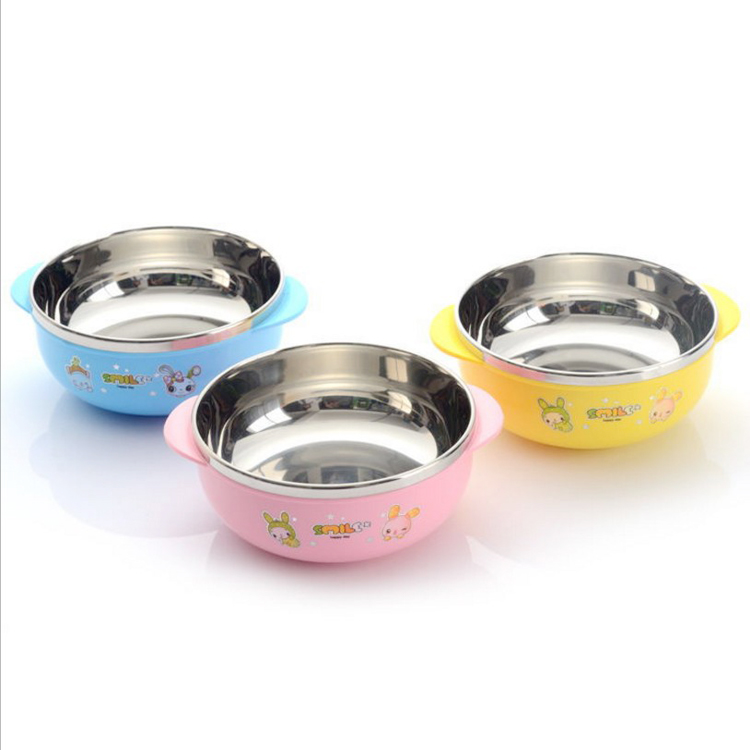 kids plastic stainless steel thermal bowl containers for food storage food prep containers with spoon
