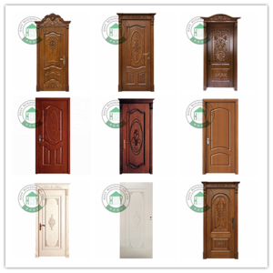 Factory direct price mahogany wood entry doors latest bathroom door laminated flush