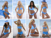 Wholesale Swimwear Blues and Silver Jinx Collection- Mix & Match Tops and Bottoms