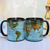 solar system earth hot sensitive temperature color changing magic magic ceramic mug