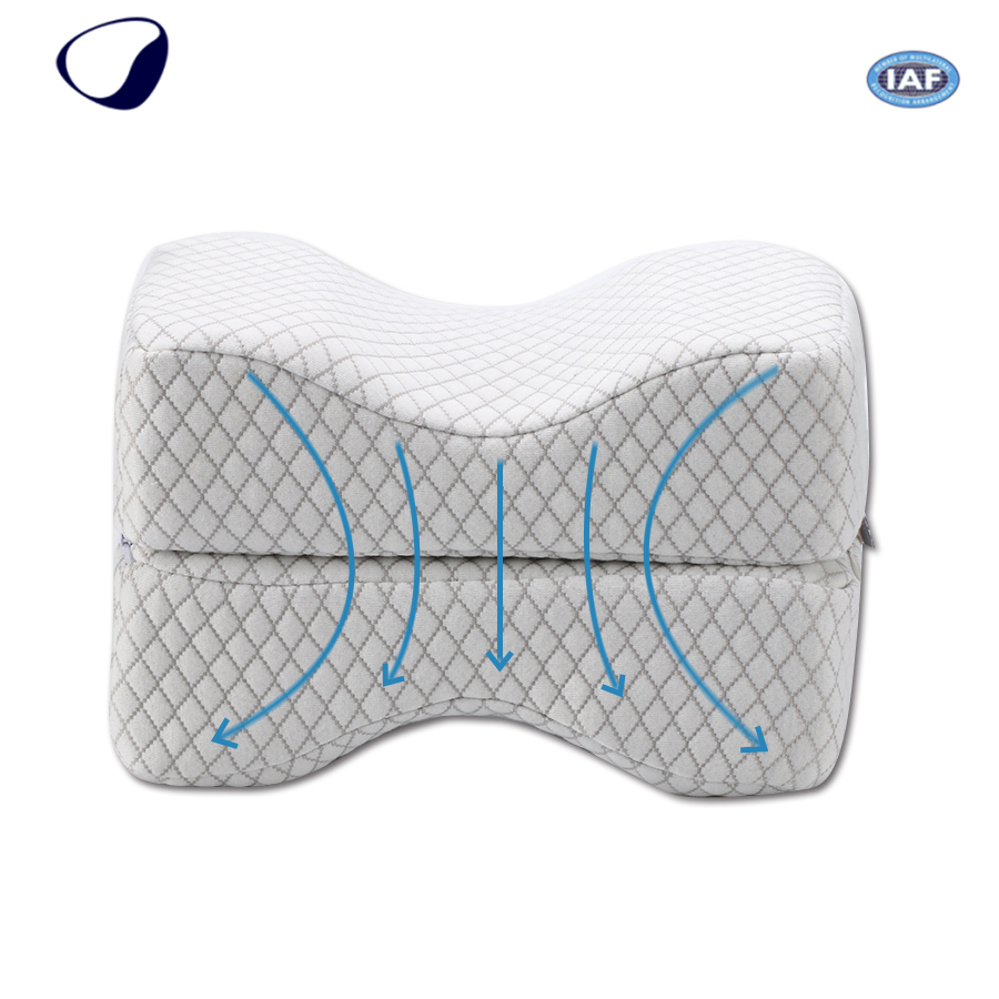 Chinese Comfort Style Anti Microbial Leg Massage Cushion Airplane Rest Pads Foam Knee Wedge Pillow For Support Sleeping