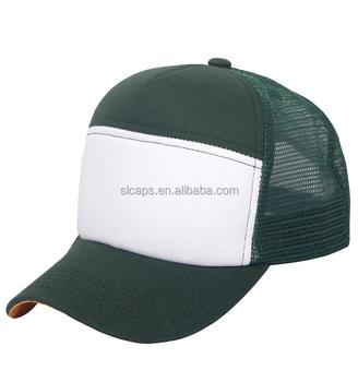 Army Green White 6 Panel Hats Mesh Trucker Hat Plain Snapback Caps Hats 8aeaf1ed176