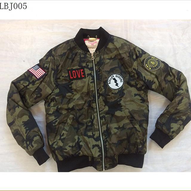 lady camo coat winter padded women bomber camouflage jacket