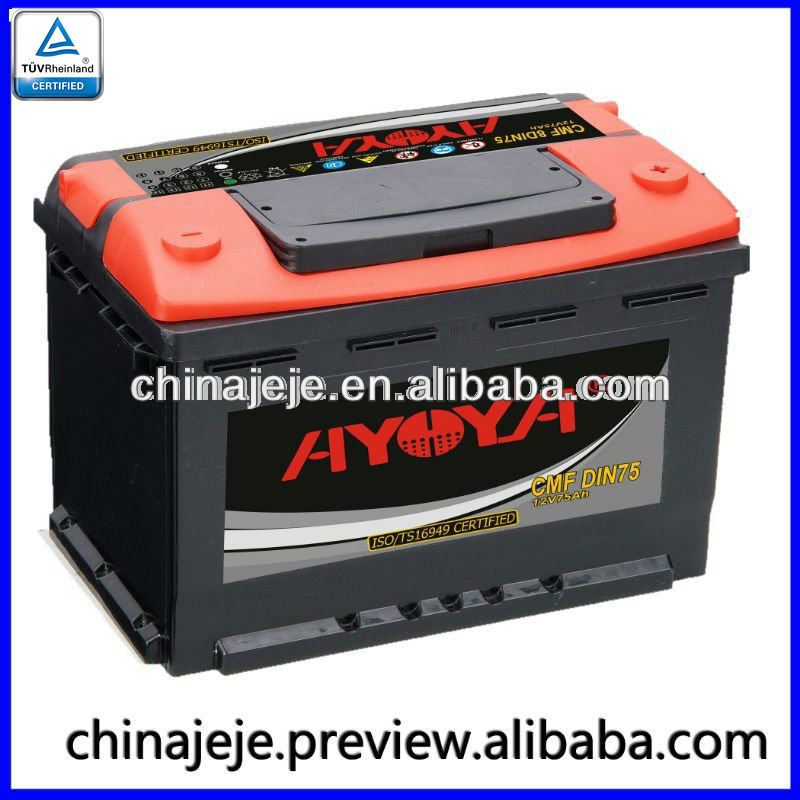 Rechargeable Car Battery CMF DIN75 AYOYA