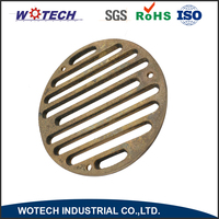 OEM metal sand casting floor drain cover stainless steel for bathroom