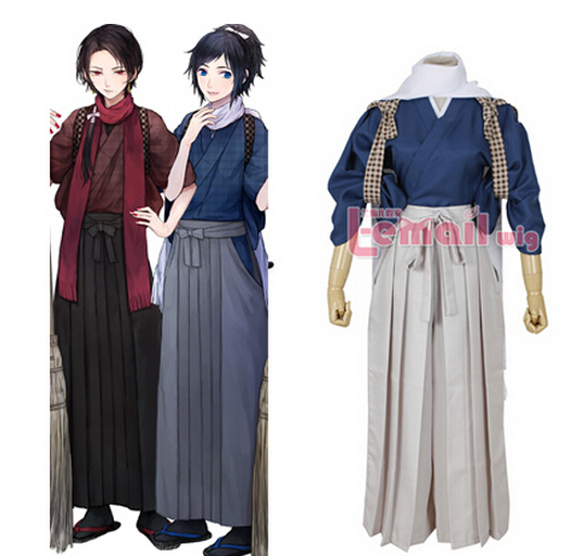 Free Shipping Touken Ranbu Online Ishikirimaru Cosplay costumes Anime red Japanese Kimono halloween costumes for men