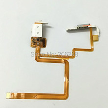 White Headphone Audio Jack Headset Socket Flex Ribbon Cable Hold Switch for iPod 5th Gen Video