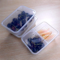 1500ml clear rectangular large disposable plastic best take away food storage containers/ boxes for leftovers