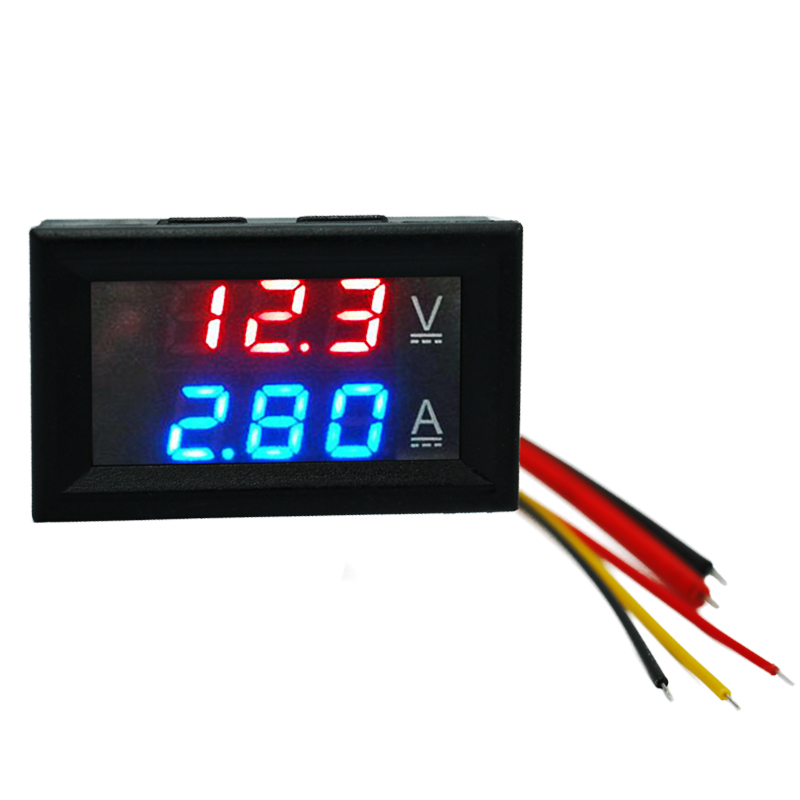 Red Bule LED Digital DC 0-100V/10A Ammeter Voltmeter meter Amperemeter Car LED Tester Current Voltage Gauge