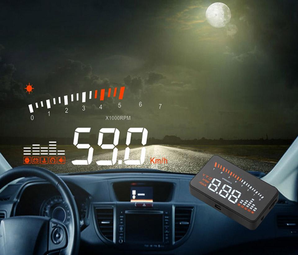 universal gps speed hud car head up display speeding. Black Bedroom Furniture Sets. Home Design Ideas