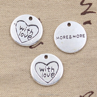 Custom made with love more&more charms vintage silver fashion made with love more&more charm pendant for jewelry 20mm