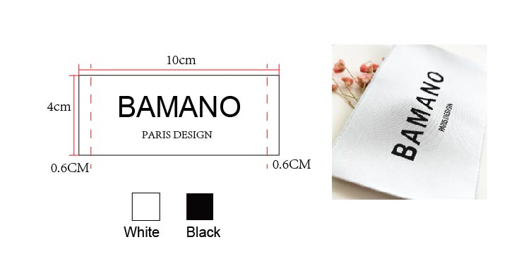 Custom woven brand tag woven garment labels damask woven label for clothing