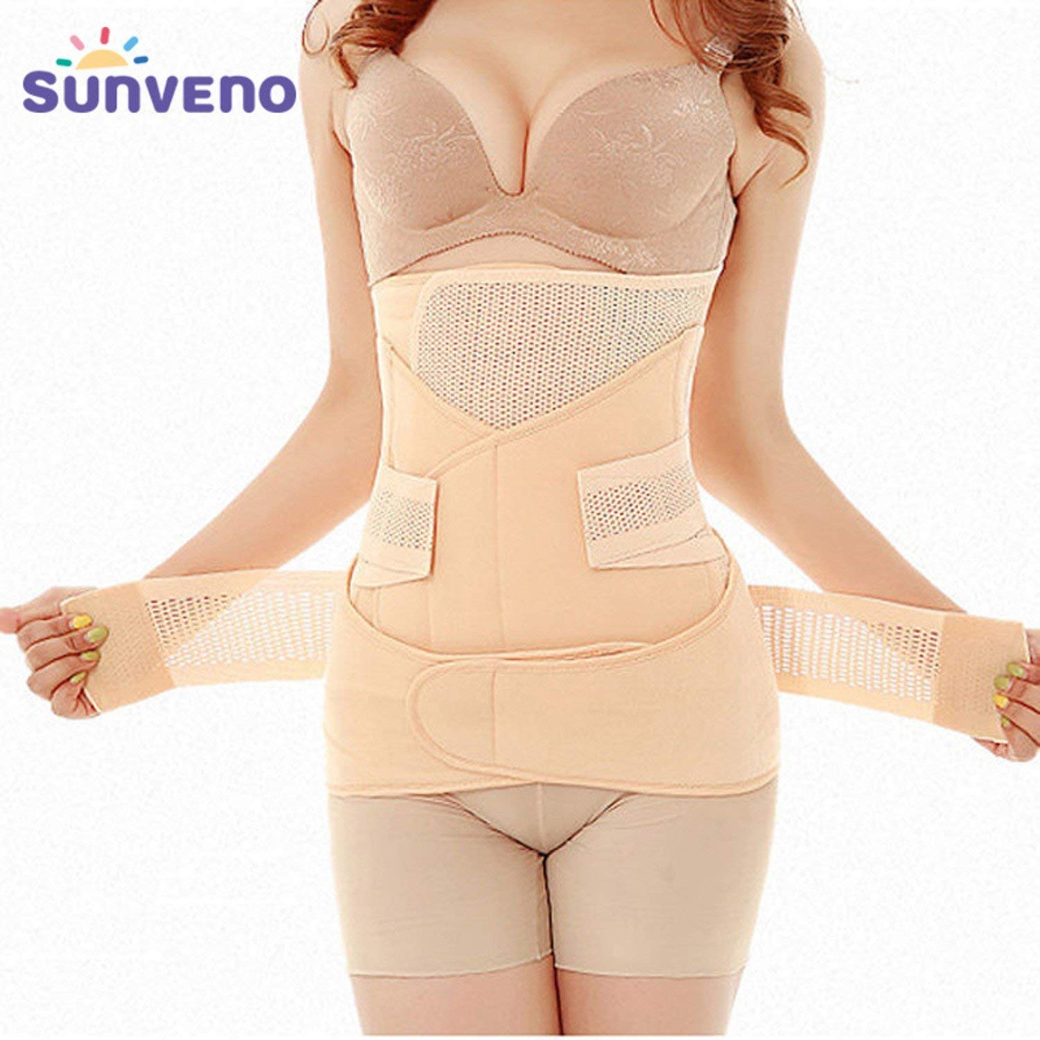 b80b622367d60 Get Quotations · 3in1 Belly Abdomen Pelvis Postpartum Belt Body Recovery Shapewear  Belly Slim Waist Cinchers Breathable