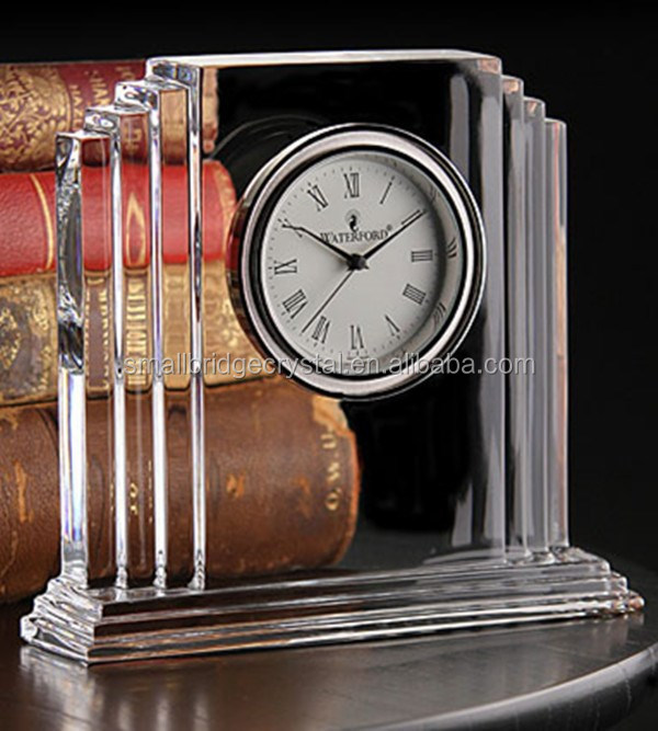 Fashion crystal table clock for home decoration
