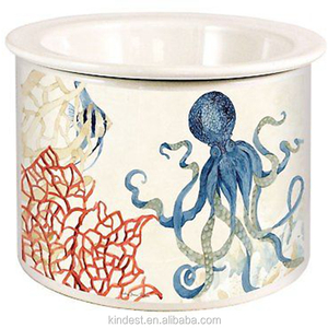 Indigo Ocean Octopus and Coral Dip Chiller Ceramic