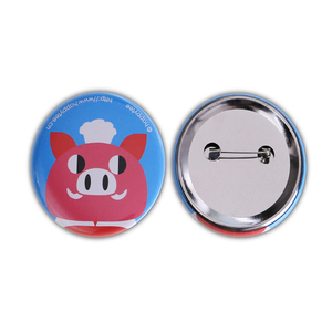 2018 new product OEM cheap blank custom logo heart tin metal pin button badge