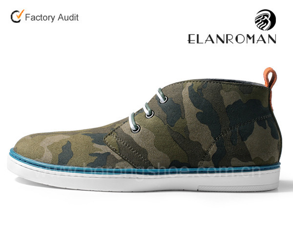 leather shoes high army men cut men sneakers green for Fashion casual w74TqnU1