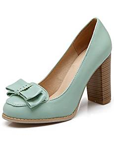Get Quotations · VU*LK Women's Shoes PU Spring / Fall Heels / Comfort /  Round Toe Heels
